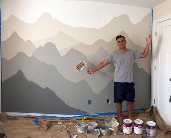 Nursery murals guest rooms and painted walls on pinterest - How to paint murals on bedroom walls ...