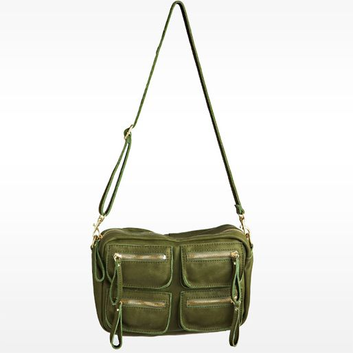 Linea Pelle — Dylan Crossbody Carryall in Moss