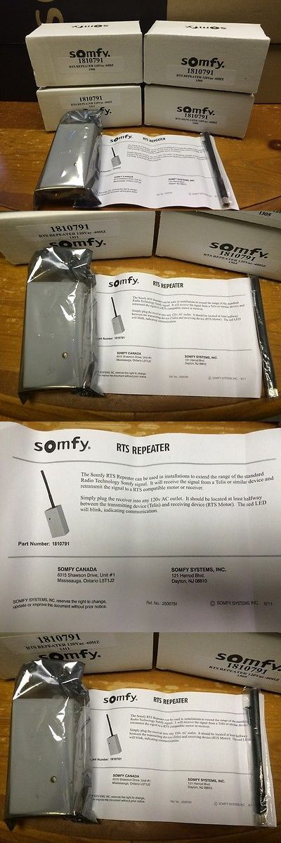 Other Home Automation: Somfy Rts Repeater #1810791 BUY IT NOW ONLY: $159.0