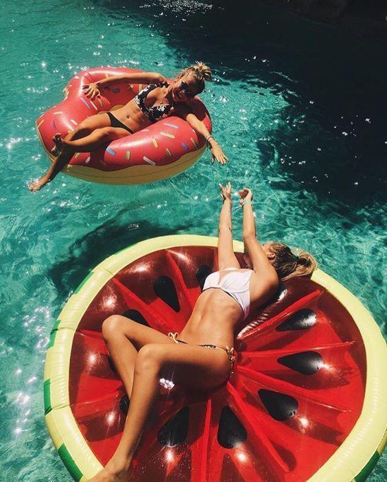 Bikini-Damen-Sommer-Pool-Luftmatratze
