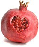 Pomegranate With Cut Heart Shape