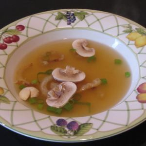 I love the onion soup they serve at Benihana and after a search online to find a good copy cat of the recipe, I promptly made some for tonight's dinner. It turned out great and was really easy to ...