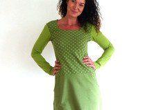 """Kleid mit Taschen - """"Patch in oliv und grün"""""""