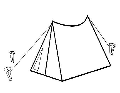 Coloring Page Outline Tent ~ OLASTORYY