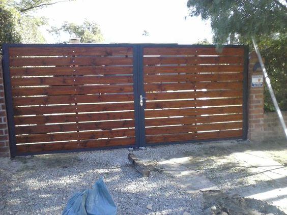 Cerramientos y portones en hierro y madera - Portones de madera para exterior ...