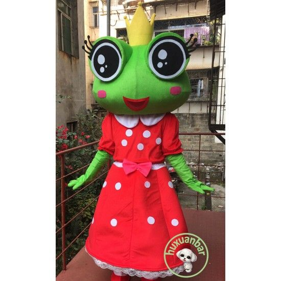 Frog Prince Mascot Costume Christmas Party Fancy Dress Cosplay Outfits Adults UK