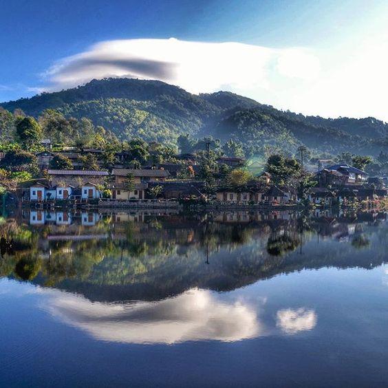 Baan Rak Thai, Mae Hong Son Thailand -Myanmar-Thailand border village -little slice of Shangri La -place to stay Chinese cottages at Lee Wine Ruk Thai Resort (3 Moo 6 Moo Ban Rak Thai, 089-552-9650, 089-262-1335).