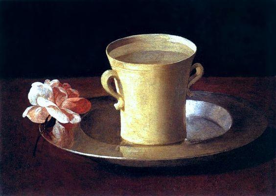 A Cup of Water and A Rose, Francisco de Zurbarán, circa 1630 via National Gallery collection