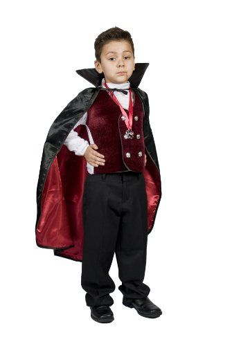 Boys Kids Vampire Halloween Costume, Dracula Size 5,6,7,8 Monika