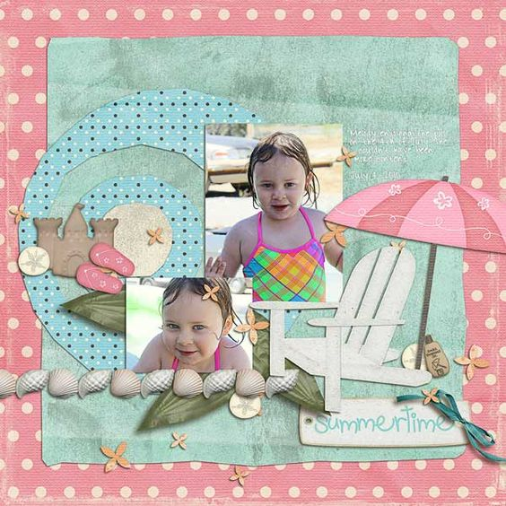 Layout by Natalie using Life's a Beach Digital Scrapbooking Kit by Simple Girl Scraps