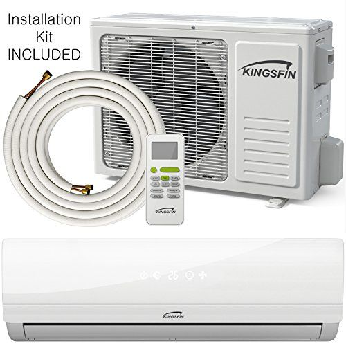 Kingsfin Mini Split Ductless Ac Air Conditioner And Heat Pump 18000 Btu 230v 15 Seer Complete System Ductless Ac Ductless Air Conditioner