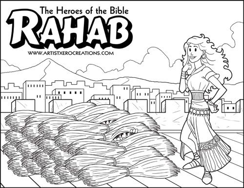 The Heroes Of The Bible Coloring Pages Rahab Sunday School