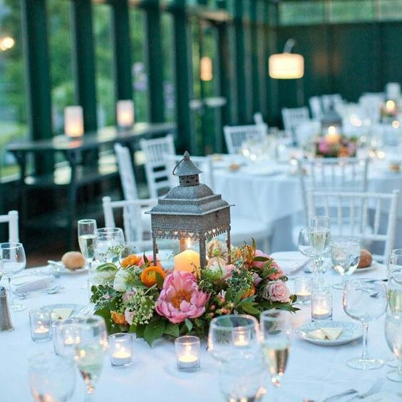 Rustic lanterns for wedding centerpieces lantern