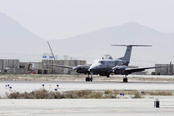 The US Air Force's mission with the MC-12 Liberty in Afghanistan is over.  The 4th Expeditionary Reconnaissance Squadron flew its last flight Oct. 1 at Bagram Air Field, the last of more than 40,000 combat missions and more than 200,000 hours of surveillance flights since 2009.  The Army stood up Joint Task Force Thor at Bagram to take over the MC-12 mission from the Air Force.