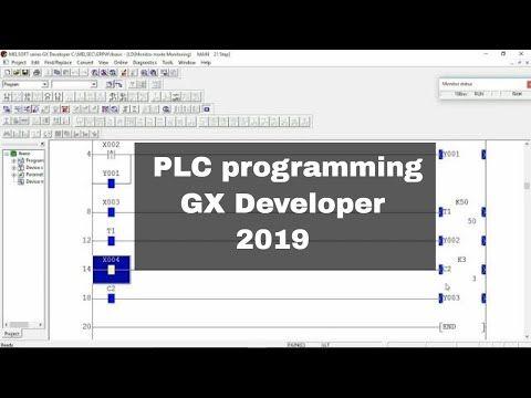 Plc Ladder Programming Using Gx Developer Software Plc Training Automation Youtube Plc Programming Ladder Logic Development