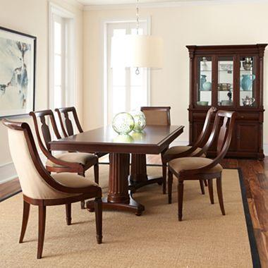 edinburgh pedestal dining set jcpenney furniture for