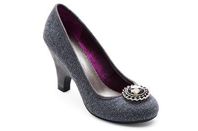 LINDSAY PHILLIPS | ALEX HEEL GREY FLANNEL - $69.99  #adodsons #shoes