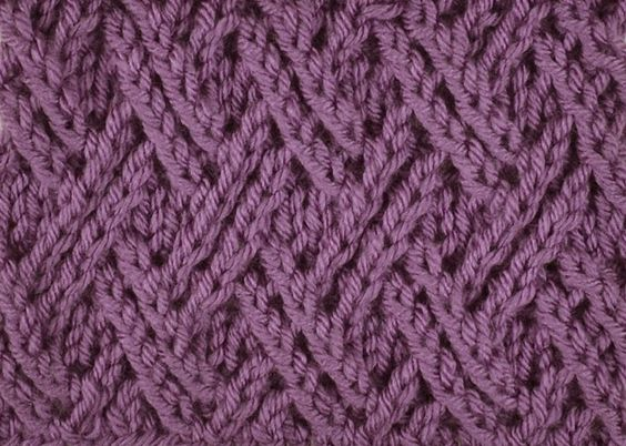 Knitting Adding Stitches In The Middle Of A Row : Lattices, The double and Stitches on Pinterest