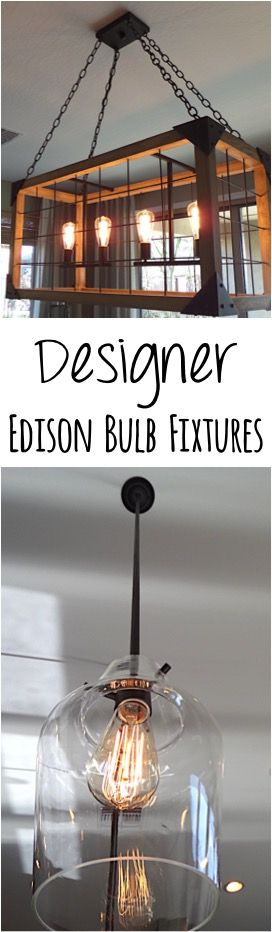 Give your Dining Room a wow-factor makeover with these Designer Edison Bulb Fixtures and creative design tips for Dining Rooms! | TheFrugalGirls.com