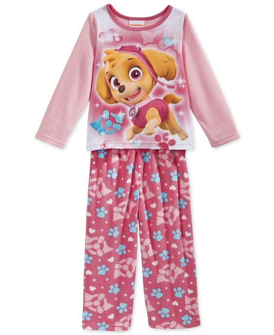 Ame Toddler Girls' 2-Piece Paw Patrol Pajamas | Christmas ...