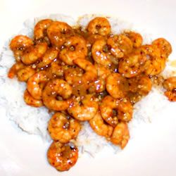 Shrimp, onions, celery and mushrooms, seasoned with paprika, garlic and crushed red pepper. Great over steamed rice.
