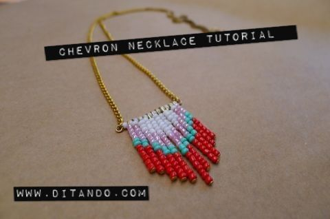 diy: Chevron Necklace Tutorial
