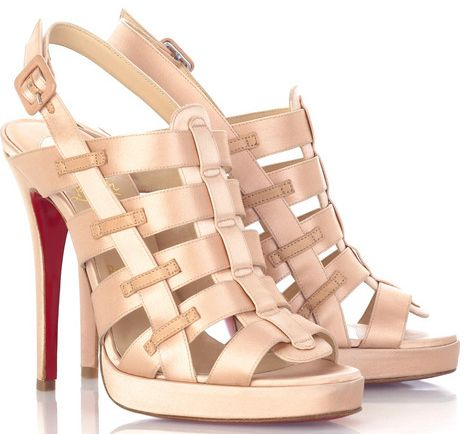 christian louboutin mens loafers - Christian Louboutin Paquita 120 Blush Satin Cage Sandals Available ...