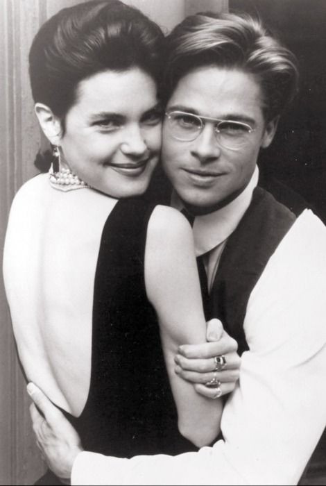 Elizabeth McGovern and brad pitt