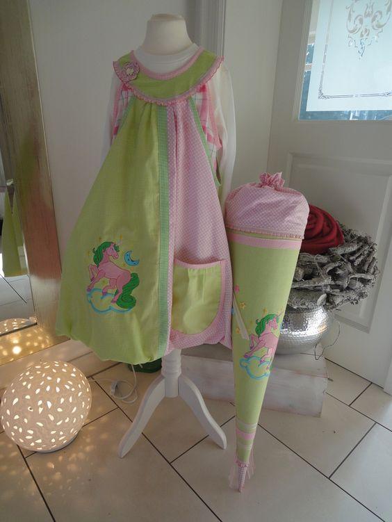 Kleider - Einschulungskleid Gr. 134 mit passender Schultüte - ein Designerstück von by-Muto-design bei DaWanda