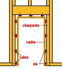 Installer une porte int rieure pose du chambranle wall frame pinterest - Poser une porte interieure ...
