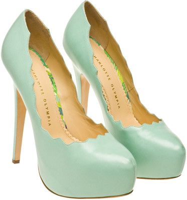 Charlotte Olympia mint pumps