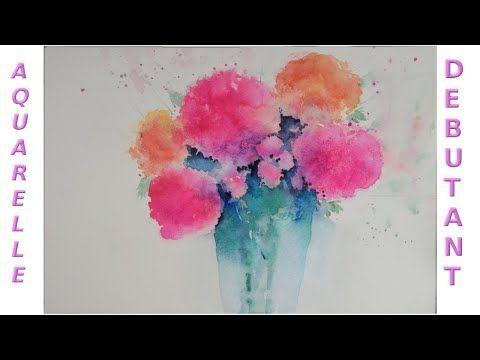 Apprendre L Aquarelle Avec Un Gros Bouquet Coloree Youtube En