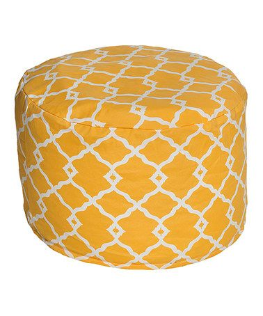 This Yellow Indoor/Outdoor Beanbag Pouf is perfect! #zulilyfinds
