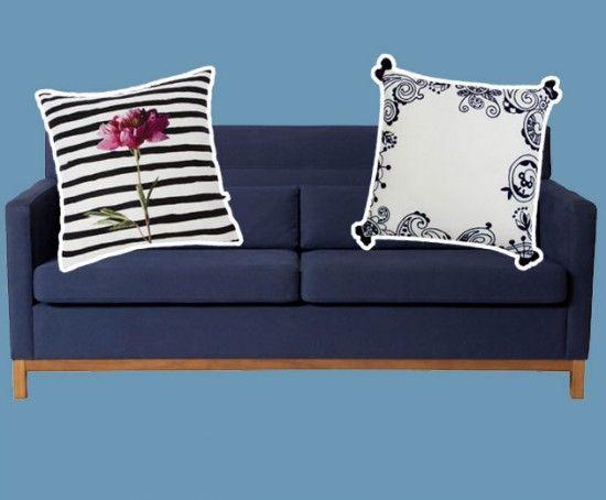 Confira a seleção de almofadas que fizemos pra você! Começando com Coisas da Doris (R$ 215) e Le Lis Blanc Home (R$ 299,90)