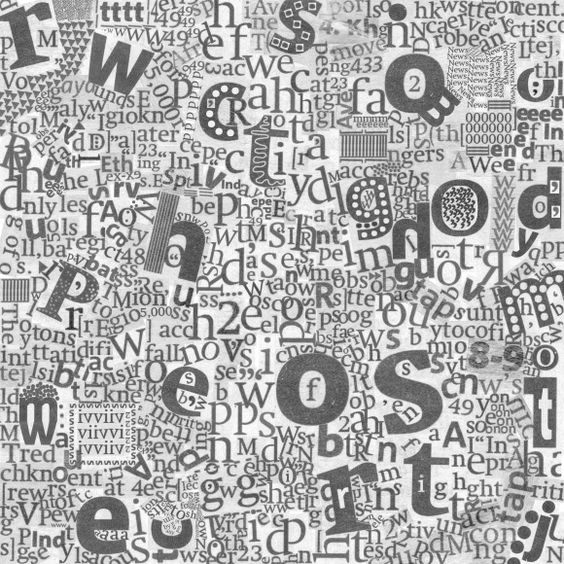 #wallpaper - Newspaper Letters - rebelwalls.com