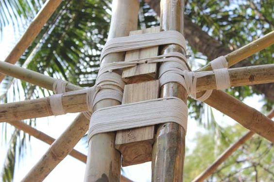 Details of the bamboo construction:
