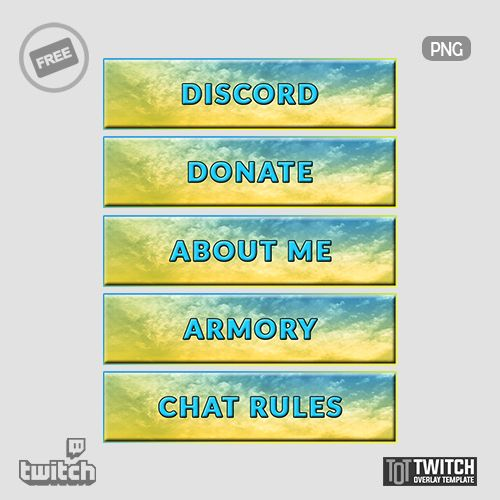 Pickle Panel Twitch Overlay Template In 2020 Twitch Overlays Templates