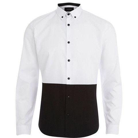 Black And White Button Up Shirt