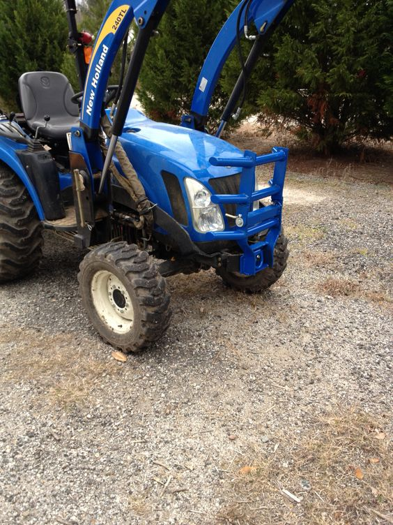 5055e Tractor Brush Guard : Homemade grill guard for new holland tractor rotates