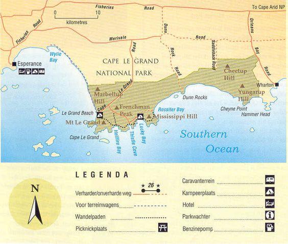 Lucky Bay Cape Le Grand National Park Australia Map – Explore Australia Map