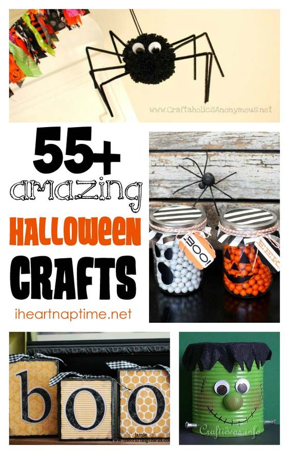 55+ AMAZING Halloween crafts at iheartnaptime.net -so many great ideas! #DIY #crafts