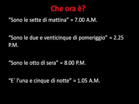 Italian Lesson - Asking and telling the time - Koliko je sati? - Che ora è ?