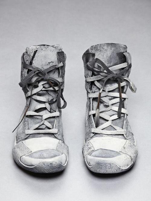 BORIS BIDJAN SABERI, AW12 TRAINERS: cement sprayed.