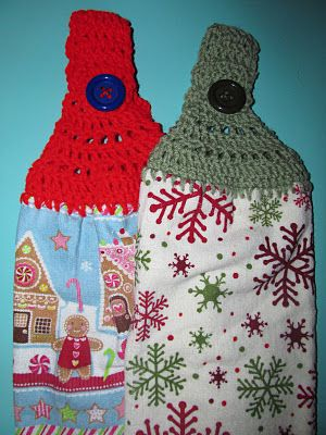 How to Crochet Kitchen Towel Toppers