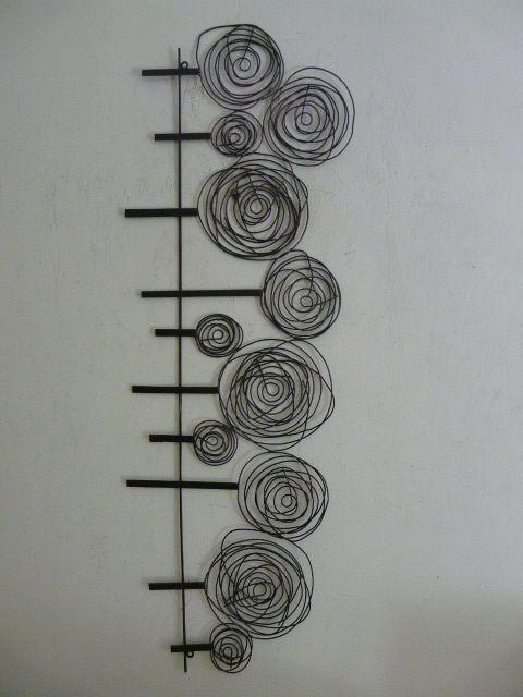 wire sculpture contemporary metal wall art quotwire spiral tree scenequot: tree scene metal wall art