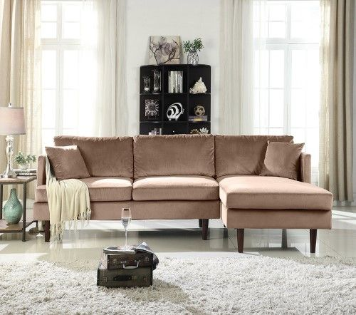 Mid Century Modern Brush Microfiber Sectional Sofa L Shape Couch With Extra Wide Chaise Lou Microfiber Sectional Microfiber Sectional Sofa Grey Sectional Sofa