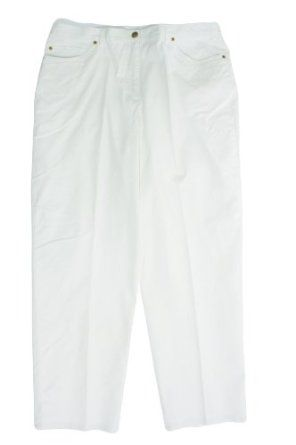 Ruby Rd Sun Sational Button Fly Side Elastic Pants Chalk White 16 Ruby Rd. $34.99
