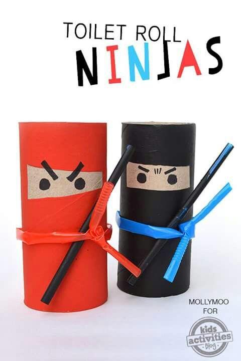 Ninja z rolki po papierze t: