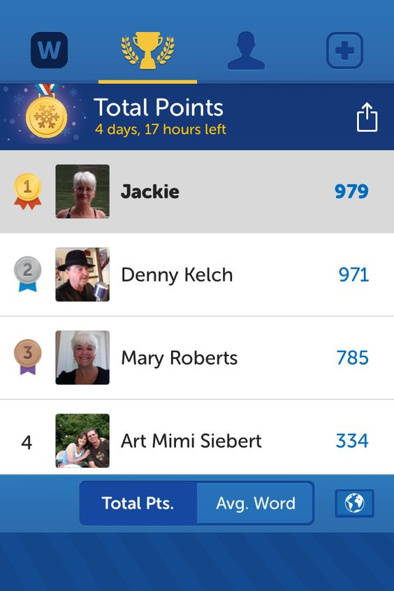 Check out my position on the Words with Friends leaderboard. I'm 1st out of my friends. Challenge me!