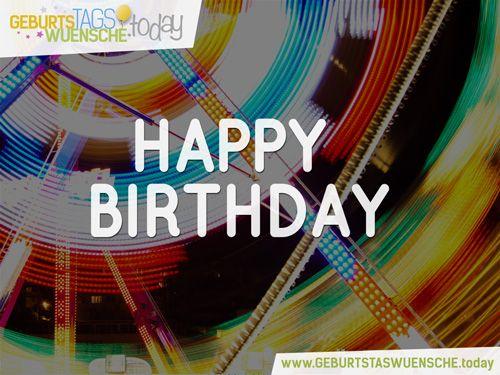 Happy Birthday - schöne und bunte Glückwunschkarte